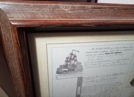 Framed 1854 Shipwreck Artifact Souvenir Delia Marie Hilton Head Brass Spike image 5