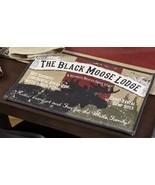 Olivia's Heartland Black Moose Lodge cabin Placemats, Table Runner, Dish... - $21.99+