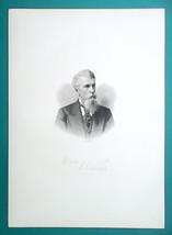 ALBERT RIDDLE Ohio Lawyer Politician Consul to Cuba - 1881 Superb Portra... - $14.40