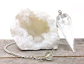 People Crystals Crystal Quartz Geode and Pendulum Kit from Morocco/Inclu... - $4.96