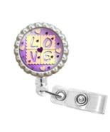 Purple LOVE ID Badge Reel - FE126.2 - $9.99