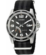 Citizen Men's Eco-Drive Stainless Steel Quartz Nylon Strap, Black  Casua... - $129.00