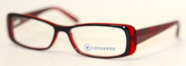 Converse Ophthalmic Eyeglass Modified Rectangle Plastic Frame Raven Black - $35.99