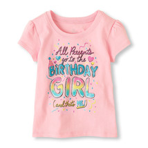 NEW Girls 1st First Birthday Girl Shirt 12-18 or 18-24 Months All Presents  - $4.99