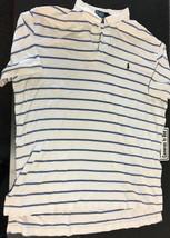 Ralph Lauren Polo Short Sleeve XLarge XL Blue/White PONY B62 - $9.74