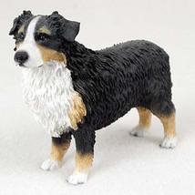 AUSTRALIAN SHEPHERD AUSSIE (tri color) DOG Figurine Statue Hand Painted ... - $17.25