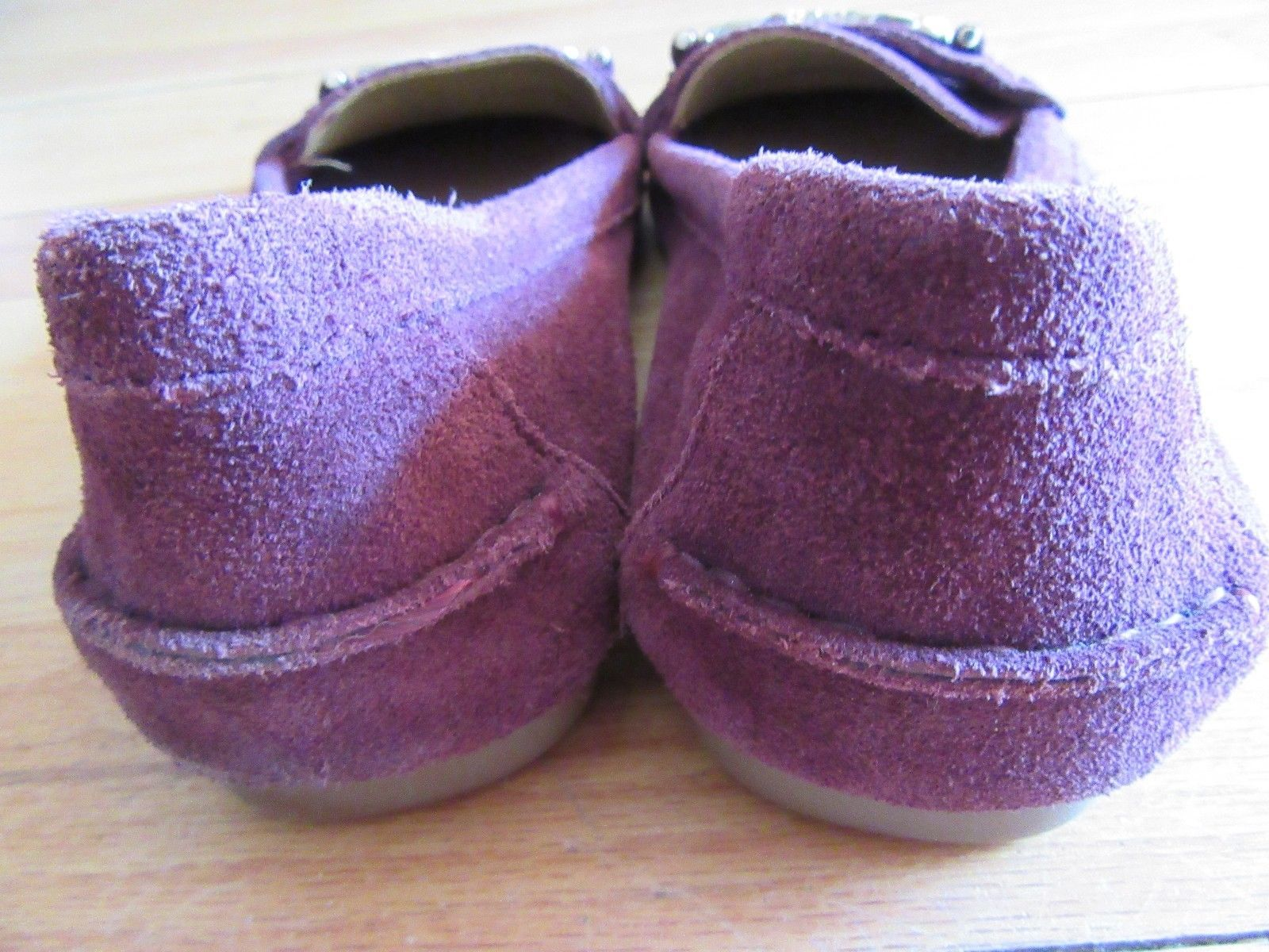 be57d21ba58 8S COACH FORTUNATA SUEDE GARNET DRIVING SHOES LOAFERS 6.5!