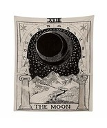 INTHouse Tarot Moon Tapestry Wall Hanging Astrology Tapestry Zodiac Tape... - $21.75 CAD