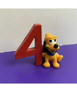 "Disney Baby Pluto Puppy PVC Figure ""4"" 4th Birthday Cake Topper Applause... - $9.89"