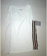 New Womens Athleta XL Top Derek Lam UPF 30 White Tank Black Tan Layer Up... - $39.60