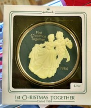 Hallmark First Christmas Together Ornament 1984 Each Moment Special e39 - $6.90