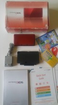 3DS Flame Red Console Handheld System Boxed In Box Cleaned Tested - $118.75