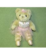 "12"" VINTAGE JERRY ELSNER PETS BALLERINA TEDDY BEAR PINK TUTU TAN TOY POI... - $24.75"