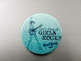 "Pin Hard Rock Cafe ""Let's Face It Girls Rock"" Blue - $6.00"