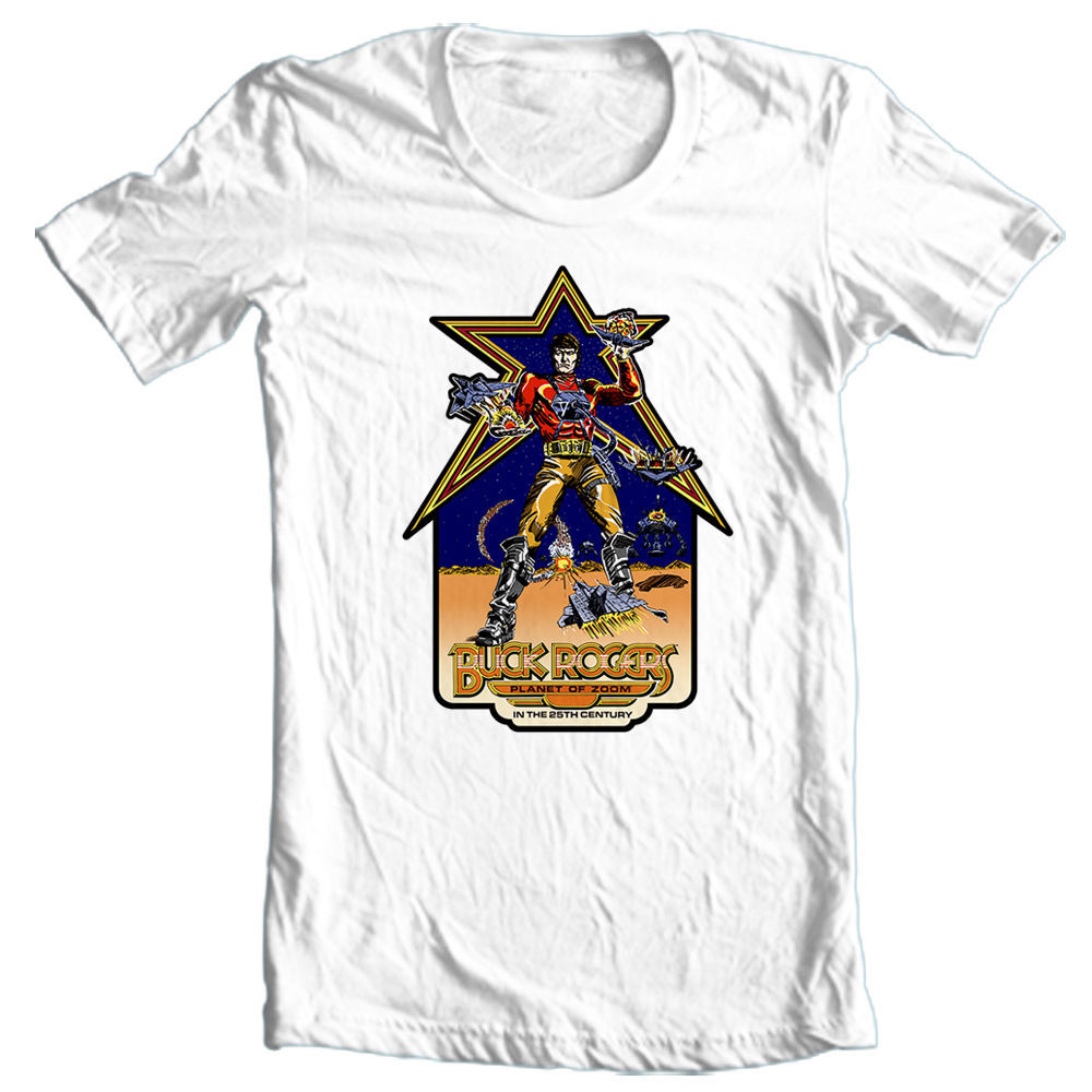 Buck rogers retro arcade game graphic tshirt shop sale buy online vintage tee store