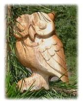 Wooden Hoot Owl Whistle - Junior ~4 Inches High - $39.93