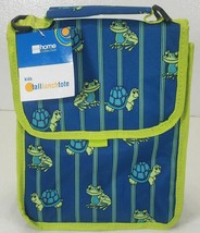 Kids Tall Lunch Tote Bag frog & turtle pattern NEW w/ tag - $9.99