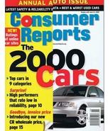 ORIGINAL Vintage 2000 Consumer Reports Magazine Cars Issue - $14.84