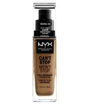 Nyx Can't Stop Won't Stop 24-Hour Foundation 30ml - Medium Buff - $32.57
