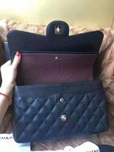 Authentic NEW Chanel Black Jumbo Caviar Double Flap Bag Silver Hardware Receipt image 7