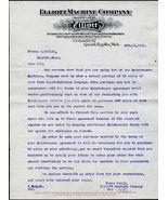 1912 ELLIOTT MACHINE COMPANY Grand Rapids MI Antique Letterhead Correspo... - $11.99