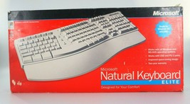 Microsoft Natural Keyboard Elite PS/2 USB Ergonomic Split Keyboard 286-00082 - $49.50