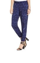 DKNY Jeans Women's Nature Texture Print Track Pant Color: Ink - $12.00
