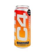C4 Smart Energy Superbrain Performance Fuel 16oz cans Peach Mango Nector... - $19.79