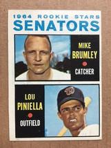 1964 Topps #167 Lou Piniella Rookie Baseball Card NM/M Condition Senator... - $39.99