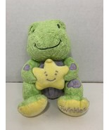 Bright Starts Twinkles baby toy plush frog green purple yellow star NO S... - $6.92