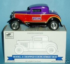 Liberty Classics Model A Chopped Coupe Coin Bank - NIB - $28.98