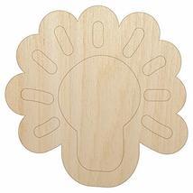 Light Bulb Idea Doodle Unfinished Wood Shape Piece Cutout for DIY Craft Projects - $3.99