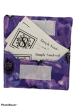 Purple Pansies Re-useable *gift card holder *  - pansy lining - $3.99