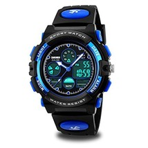 Kids Watches, Boys Mulitfunction Sports Watches 50M Waterproof Analog Digtal Dua