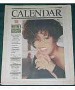 WHITNEY HOUSTON CALENDAR NEWSPAPER SUPPLEMENT VINTAGE 1992 - $32.99