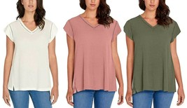 Buffalo David Bitton Ladies' Short Sleeve V-Neck Top - $13.99