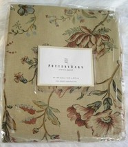 "NEW Pottery Barn Curtain Panel Neutral Tan Floral 44x84"" Sierra Pole Pocket - $70.00"