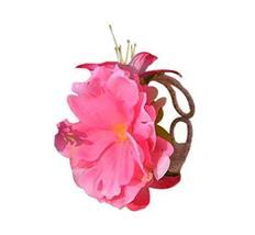 1 Pair Of Unique Pink Flowers Beach Bracelets Lace Bracelets Jewelry