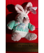 Toy Holiday Wishpets Plush Easter Green Sweater Bunny Rabbit Stuffed Ani... - $9.49