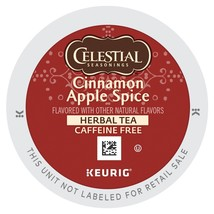 Celestial Seasonings Cinnamon Apple Spice Herbal Tea K cups Pick Your Own Size - $22.99+