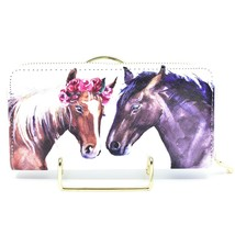 Bijorca Two Horses Country Western Vinyl Zippered Clutch Wallet New w Tags NWT image 2