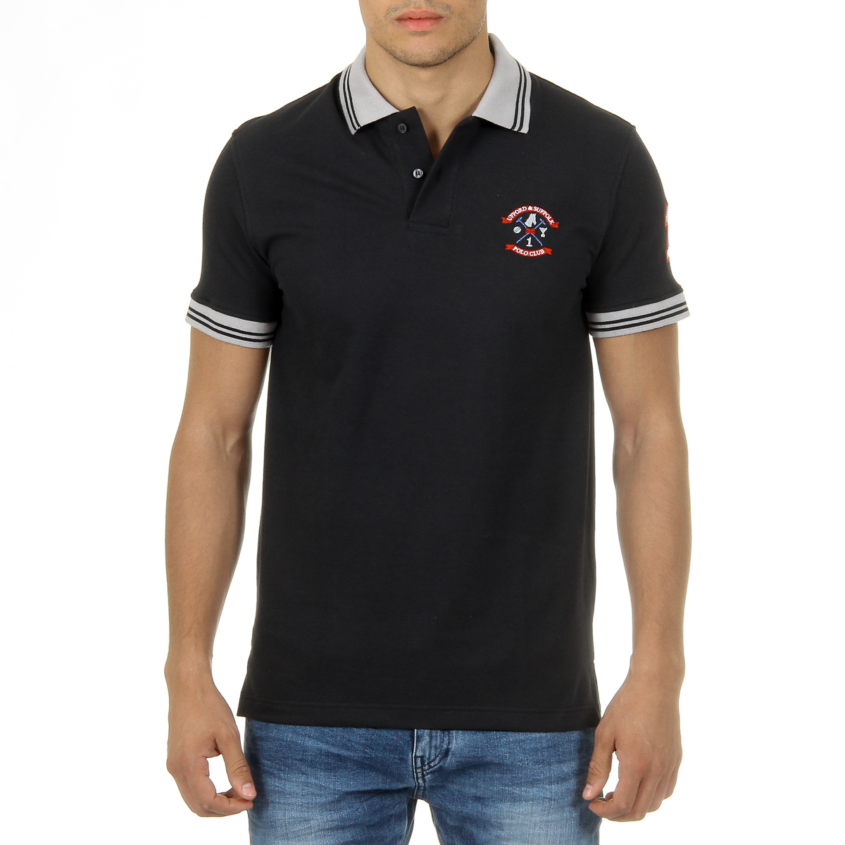 Primary image for Ufford & Suffolk Polo Club Mens Polo Short Sleeves Black ENIGMA