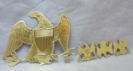 Victorian embossed die cut paper scraps. Gold foil American Eagles - $12.99