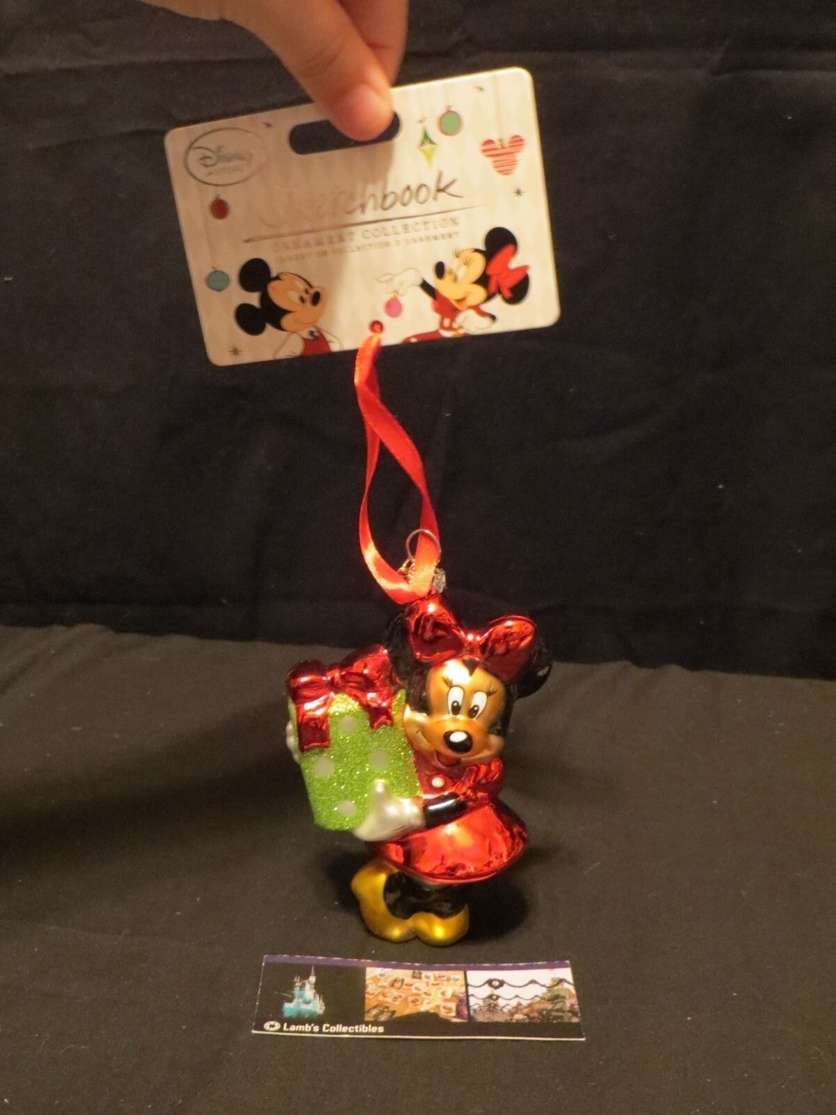 Primary image for Disney Store Authentic Sketchbook Christmas ornament 2014 Minnie Mouse decorate