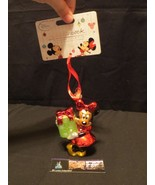 Disney Store Authentic Sketchbook Christmas ornament 2014 Minnie Mouse d... - $16.60