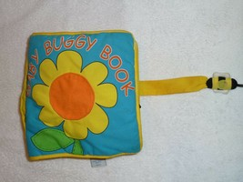 BABY GUND BUGGY BOOK BUG INSECT TODDLER SOFT CLOTH BOOK FLOWER LADYBUG 5... - $19.79