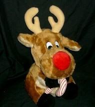 "12"" VINTAGE HOUSE OF LLOYD CHRISTMAS MOOSE STUFFED ANIMAL PLUSH TOY CAND... - $29.45"