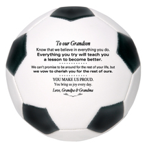 Custom Mini Soccer Ball To Our Grandson Graduation, Birthday, Christmas ... - $34.95