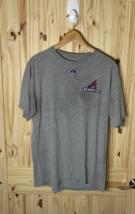 Majestic MLB Atlanta Braves Manager Bobby Cox #6 Tribute T-Shirt Gray Size L - $14.99