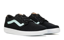 vans chapman lite women's skate shoes black size 11 nwob - $49.45